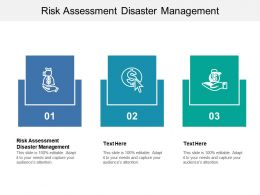 Risk Assessment Disaster Management Ppt Powerpoint Presentation Model Tutorials Cpb