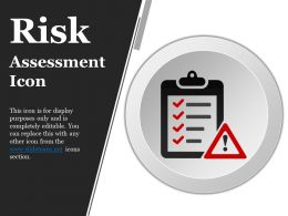 Risk Assessment Icon Ppt Background Images