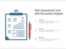 Risk Assessment Icon With Document Analysis