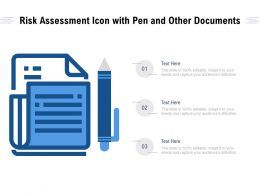 Risk Assessment Icon With Pen And Other Documents