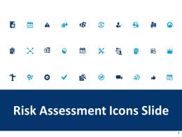 Risk Assessment Icons Slide Gears Ppt Powerpoint Presentation Pictures