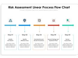 Risk Assessment Linear Process Flow Chart