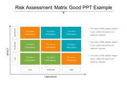Risk Assessment Matrix Good Ppt Example
