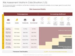 Risk Assessment Matrix In Crisis Situation Assets Ppt Powerpoint Presentation Infographics Portrait