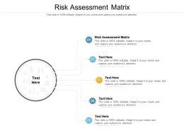 Risk Assessment Matrix Ppt Powerpoint Presentation Infographics Maker Cpb