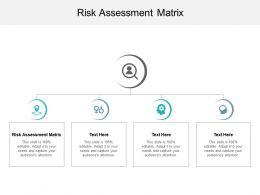 Risk Assessment Matrix Ppt Powerpoint Presentation Model Structure Cpb