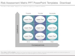 Risk Assessment Matrix Ppt Powerpoint Templates Download