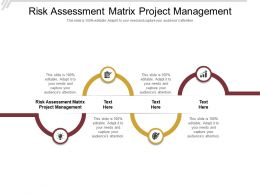 Risk Assessment Matrix Project Management Ppt Powerpoint Presentation Inspiration Cpb