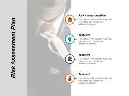 Risk Assessment Plan Ppt Powerpoint Presentation Ideas Structure Cpb