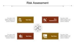 Risk Assessment Ppt Powerpoint Presentation Infographic Template Vector Cpb