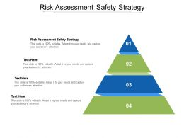 Risk Assessment Safety Strategy Ppt Powerpoint Presentation Slides Example Cpb