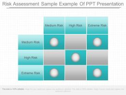 Risk Assessment Sample Example Of Ppt Presentation