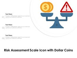 Risk Assessment Scale Icon With Dollar Coins