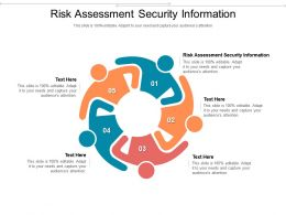 Risk Assessment Security Information Ppt Powerpoint Presentation Model Guidelines Cpb