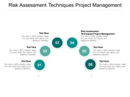 Risk Assessment Techniques Project Management Ppt Powerpoint Presentation Infographics Cpb