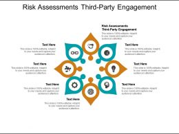 Risk Assessments Third Party Engagement Ppt Powerpoint Presentation Pictures Cpb