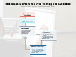 Risk Based Maintenance With Planning And Evaluation