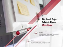 Risk Based Project Schedule Plan On White Board