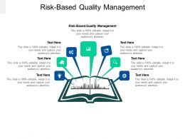 Risk Based Quality Management Ppt Powerpoint Presentation Summary Diagrams Cpb