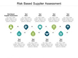 Risk Based Supplier Assessment Ppt Powerpoint Presentation Outline Professional Cpb