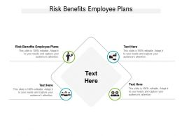 Risk Benefits Employee Plans Ppt Powerpoint Presentation Slides Format Cpb