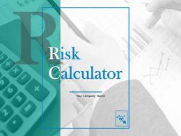 Risk Calculator Powerpoint Presentation Slides