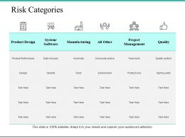 Risk Categories Ppt Powerpoint Presentation File Portfolio