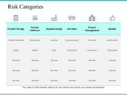 Risk Categories Ppt Powerpoint Presentation File Portfolio