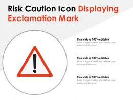 Risk Caution Icon Displaying Exclamation Mark