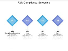 Risk Compliance Screening Ppt Powerpoint Presentation Infographics Summary Cpb