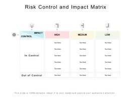 Risk Control And Impact Matrix