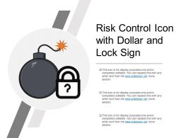 Risk Control Icon With Dollar And Lock Sign