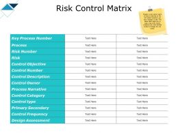 Risk Control Matrix Category Narrative Ppt Powerpoint Slides