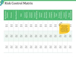 Risk Control Matrix Powerpoint Slide Design Ideas