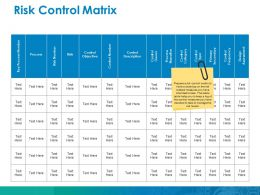 Risk Control Matrix Ppt Gallery Elements