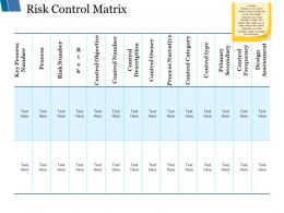 Risk Control Matrix Ppt Styles Templates
