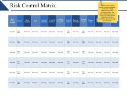 Risk Control Matrix Presentation Background Images