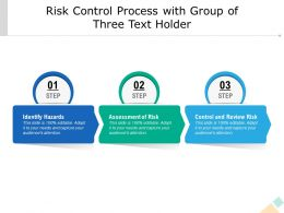 Risk Control Process With Group Of Three Text Holder