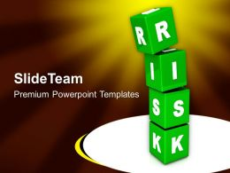 Risk Cubes Business Concept PowerPoint Templates PPT Themes And Graphics 0213