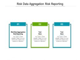 Risk Data Aggregation Risk Reporting Ppt Powerpoint Presentation Pictures Slides Cpb