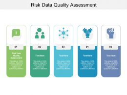 Risk Data Quality Assessment Ppt Powerpoint Presentation Layouts Master Slide Cpb