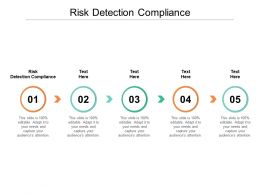 Risk Detection Compliance Ppt Powerpoint Presentation Gallery Format Cpb