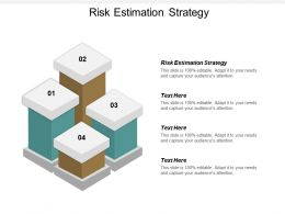 Risk Estimation Strategy Ppt Powerpoint Presentation Gallery Layouts Cpb