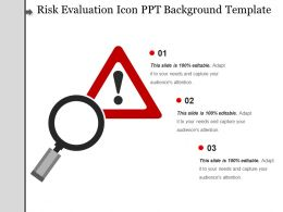 Risk Evaluation Icon Ppt Background Template