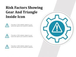 Risk Factors Showing Gear And Triangle Inside Icon