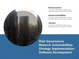 Risk Governance Network Vulnerabilities Strategy Implementation Software Development Cpb