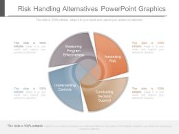 Risk Handling Alternatives Powerpoint Graphics
