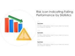 Risk Icon Indicating Falling Performance By Statistics