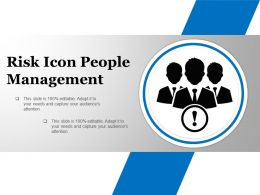 Risk Icon People Management Ppt Design