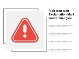 Risk Icon With Exclamation Mark Inside Triangle